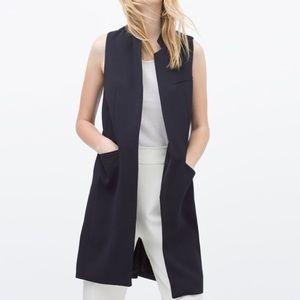 Zara Basic - Navy Blazer Vest